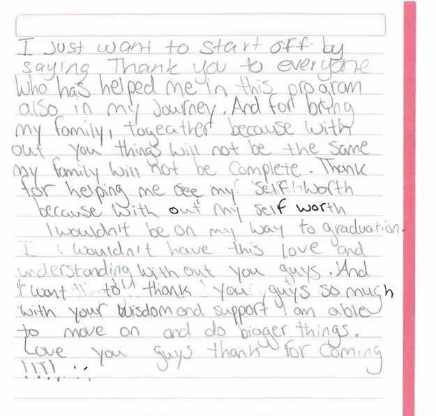 Testimonial letter 1